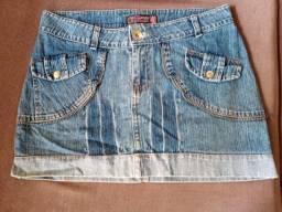 Saia Jeans Curta ? Tamanho 42