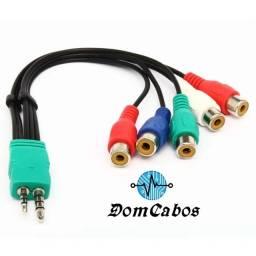Cabo Adaptador Av Componente Tv Samsung Led Lcd P1 P2 5 Rca