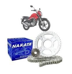 Kit Relação Transmissão Nakata Aço 1045 para a Honda Cg Fan Titan 160