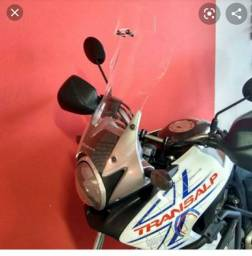 Bolha alta Moto Bolhas Transalp + capa de moto