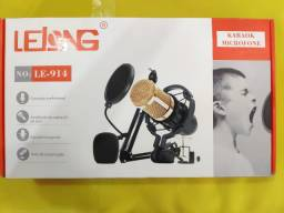 Kit Bm 800 Microfone Condensador Profissional Ejz Com Braço