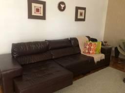 Sofa corino marrom