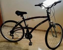 Bicicleta Caloi Aluminum Sport 100, 21 marchas praticamente nova
