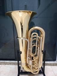 Tuba 3/4 Sib Weingrill Nirschl 4 Pistos Frontal Wntu3 Semi Nova-Troco-Parcelo 12x