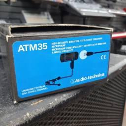Microfone Audio technica ATM35 lapela