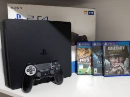 Ps4 - PlayStation slim 1TB + Garantia - Até 12x no cartão de crédito!!!