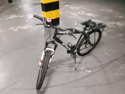 Bicicleta aro 26 Btwin RockRider 300 - pouso uso - c/ bagageiro,suporte de garrafa,buzina