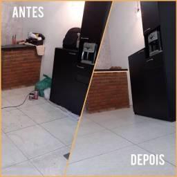 Tratamento de piso profissional