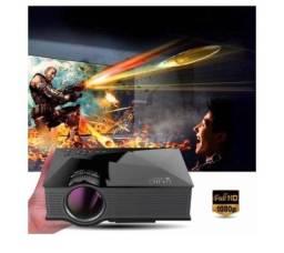 Título do anúncio: Mini projetor UC46 HDMI 130 polegadas transforme qualquer parede em um cinema completo