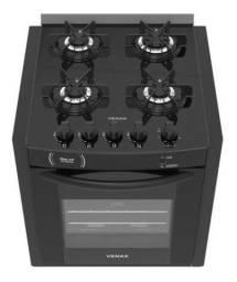 Fogão de Embutir VENAX Gaudi Prisma 4 bocas preto bivolt