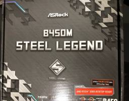 Placa mãe B450M Steel Legend p/ Ryzen