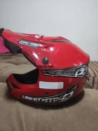 Capacete e óculos Motocross