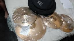 Kit de pratos/ bateria acústica Harpy Cymbals