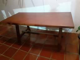 Antiga Mesa de Jantar Grande com 6 Cadeiras - Maravilhosa