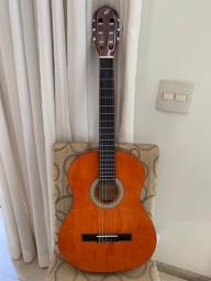 violão giannini modelo N-14N com capa acolchoada