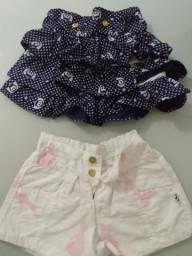 Shortinho lindo com a saia d babados lindos!! comprei e ficou guardado!! são novos