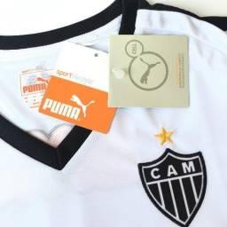 b43f91003a Camisa Atlético Mineiro Puma Galo Camiseta Feminino Baby Look M G e GG  Original Futebol