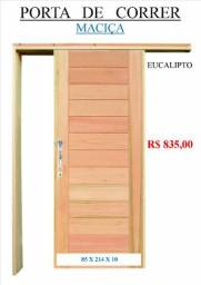 Porta de correr de madeira maciça
