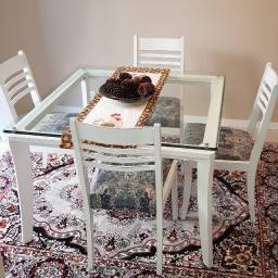 Londo conjunto de mesa de jantar com 4 cadeiras