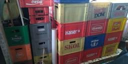 Caixa de Garrafa e de coca coca média