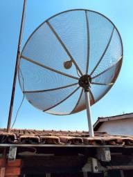 Antena Parabólica mais receptores 250,00