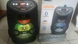 Caixa de som via Bluetooth ou sem Bluetooth. Novinha