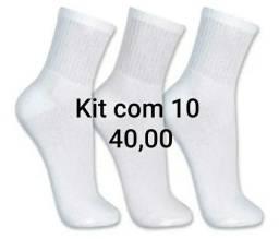 Kit com 10 pares de meia masculina