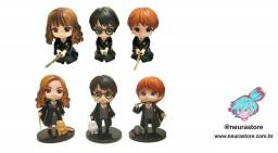 Kit 6 Action Figures Harry Hermione e Rony