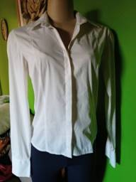 Camisa Feminina Manga Longa Branca ? M/40