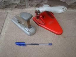 Gramepador e perfurador antigos