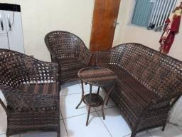 Conjunto  de cadeiras  fibra  sintética