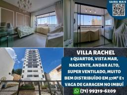 Villa Rachel, 2 quartos, nascente, vista mar, ventilado e 1 vaga no Imbuí - Espetacular