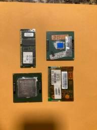 Vendo processadores, mini modem e memória RAM