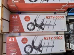 Antena para Tv com 10 Metros de cabo HSTV 5500