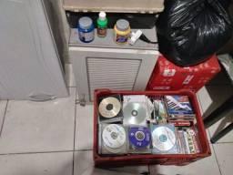 Lotes de cds e dvds. Para artesanato