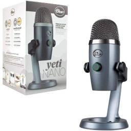 Título do anúncio: Microfone Condensador Logitech Blue Yeti Nano Shadow Grey - NOVO - Loja Física