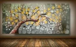 Quadro de pintura em acrílico pintado à mão 60x130