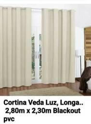 Cortina Longa Veda Luz. 2,80m x 2,30m. Blackout pvc