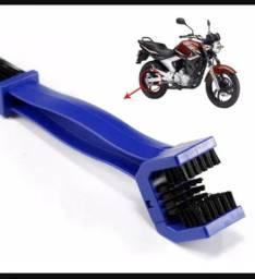 Escova limpa corrente moto e bicicleta universal