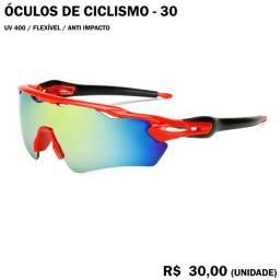 Óculos de Ciclismo com Armação Vermelha