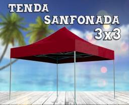 *OfertaDiaDasMães* Tenda Sanfona 3x3 Vermelha