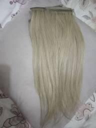 Cabelo humano brasileiro loiro na fita adesiva