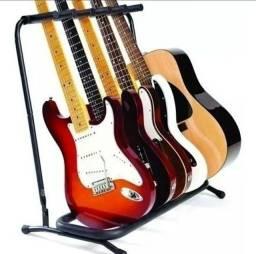 Estante Mellody para violão,  guitarra, baixo. Cabem 5 instrumentos