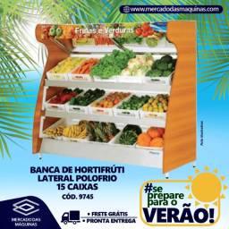 Banca hortifrúti frutas e legumes 15 caixas lateral Nova Frete Grátis