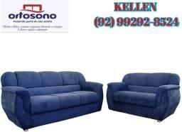 sofá de 2 e 3 lugares - frete grátis 12