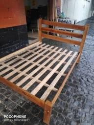 cama casal madeira nova