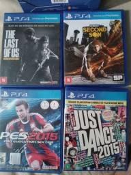 Jogos e câmera PS 4