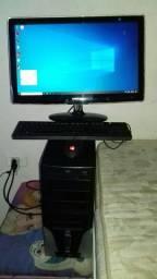 "Computador semi gamer + monitor 24"""