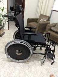 Cadeira De Rodas Avd Reclinável Alumínio 38 A 50 Cm Ortobrás
