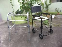 Andador e cadeira higiênica